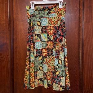 LuLaRoe Azure Skirt, Size Small